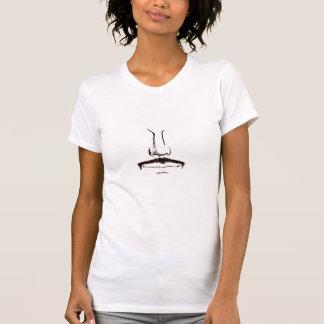 超現実主義的なB&Wの髭の女性タンクトップ Tシャツ