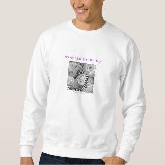 超現実的なまたは抽象芸術寡婦のくもの巣の白 スウェットシャツ