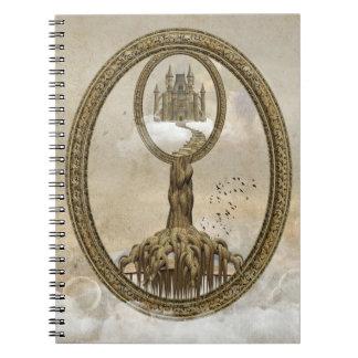 超現実的なヴィンテージの城のノート ノートブック