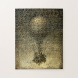 超現実的な熱気の気球のパズル ジグソーパズル