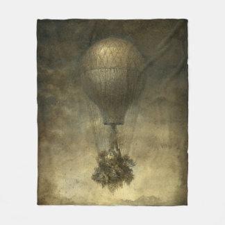 超現実的な熱気の気球のフリースブランケット フリースブランケット
