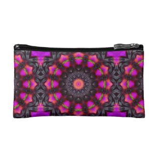 超現実的な花、花の曼荼羅 コスメティックバッグ