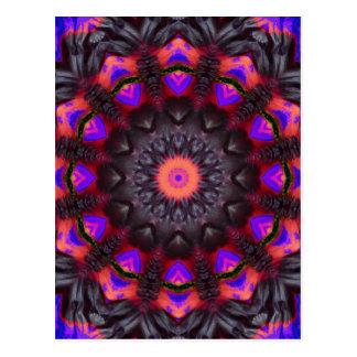 超現実的な花、花の曼荼羅 ポストカード