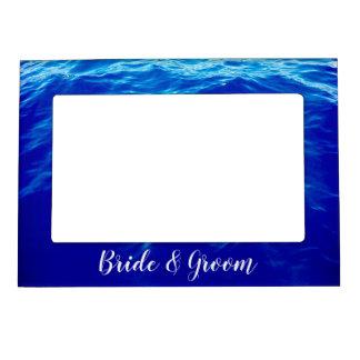 超青い波の書道の名前入りな結婚式 マグネットフレーム