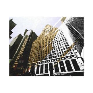 超高層ビルの目撃 キャンバスプリント