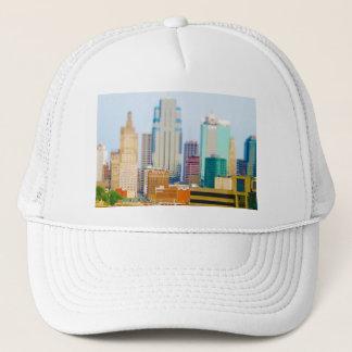 超高層ビルの高層ビルの都心のカンザスシティのスカイライン キャップ