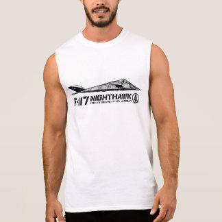 超F-117アメリカヨタカ亜科の人の綿の袖なしのTS 袖なしシャツ