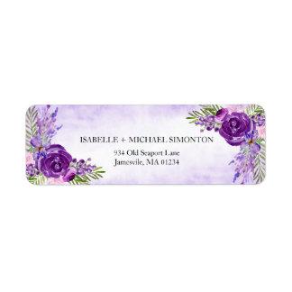 超Viloetのばら色の花の差出人住所ラベル ラベル