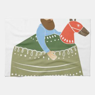 趣味の馬 キッチンタオル