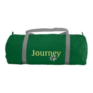 足のプリントとの旅行 ジムバッグ