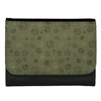 足のプリントのカムフラージュの財布