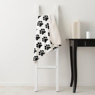 足のプリントパターン大きいSherpa毛布 シェルパブランケット