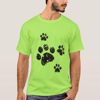 足のプリント Tシャツ