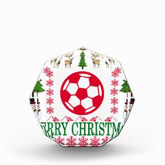 足の球のメリークリスマス。 表彰盾