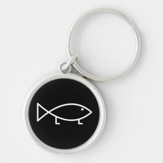 足を搭載するイエス・キリストの魚- Keychain キーホルダー
