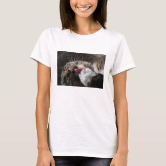 足猫のワイシャツを舐めること Tシャツ