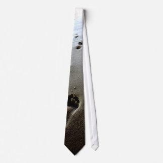 足跡のタイ オリジナルネクタイ