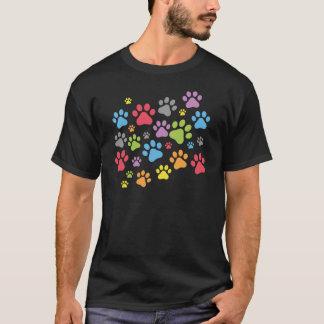 足跡犬 Tシャツ