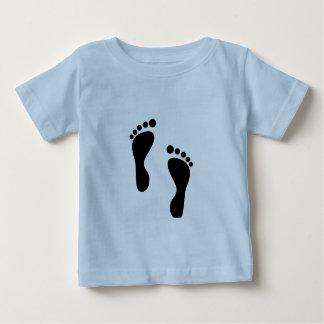 足跡 ベビーTシャツ