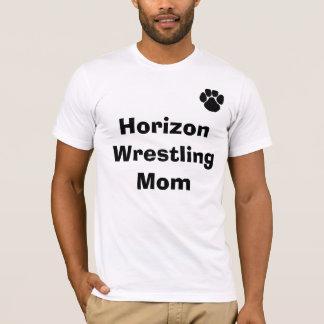 足、地平線のレスリングのお母さん Tシャツ