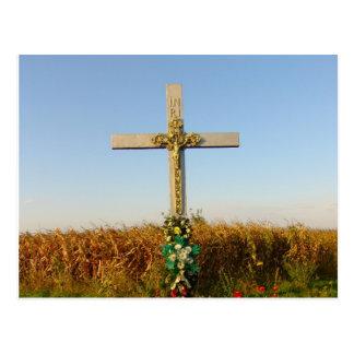 路傍の十字架像、ルーマニア ポストカード