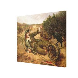 路傍1886年によって落ちた(キャンバスの油) キャンバスプリント