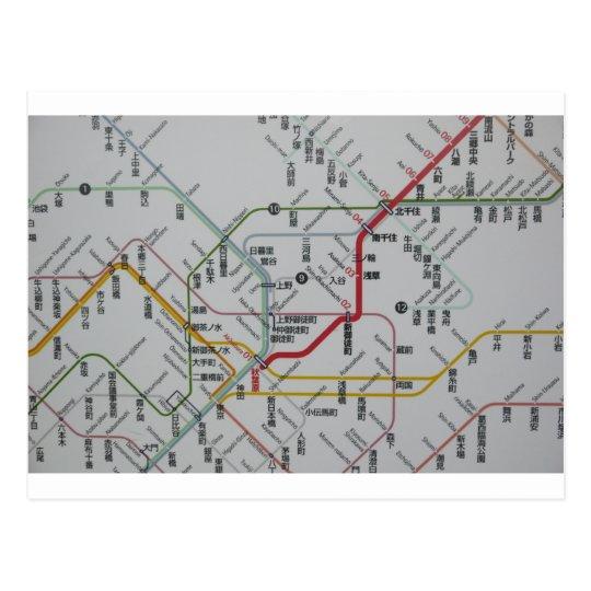 路線図 JAPAN ポストカード
