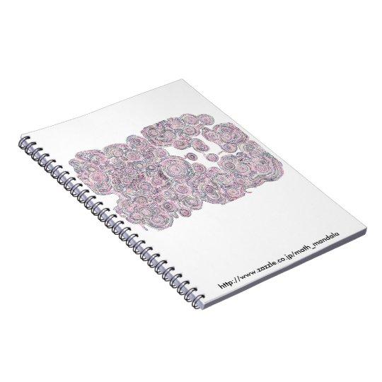 跳ぶ猫のいる算数曼荼羅ノート ノートブック