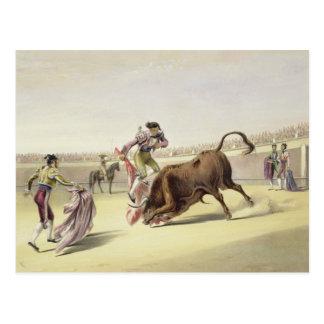 跳躍かSalta Tras Cuernos 1865年(色のlitho ポストカード