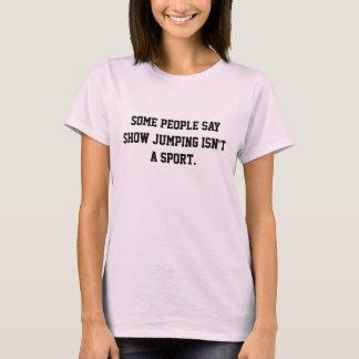 跳躍のアスリートを示して下さい Tシャツ