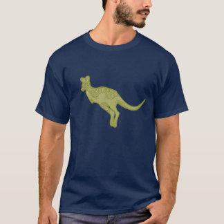 跳躍のカンガルーのワイシャツ Tシャツ