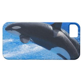 跳躍のシャチのクジラ iPhone SE/5/5s ケース