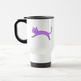 跳躍の紫色猫 トラベルマグ