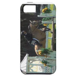 跳躍の馬、buckskinの馬 iPhone SE/5/5s ケース