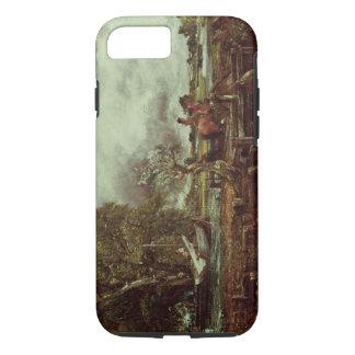 跳躍の馬、c.1825 (キャンバスの油) iPhone 8/7ケース