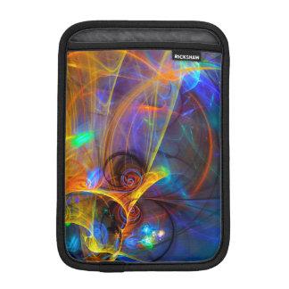 跳躍の魚の日没-多彩なデジタル抽象芸術ar iPad miniスリーブ
