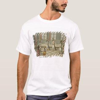 踊って下さいギリシャの女性と流行である Tシャツ
