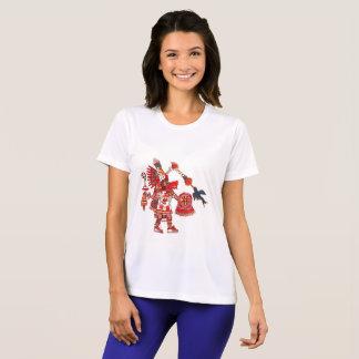 踊りのアステカなシャーマンの戦士 Tシャツ
