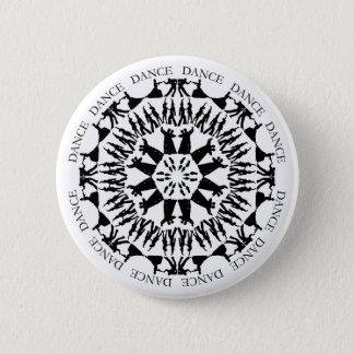 踊りのカップルの曼荼羅ボタン1 5.7CM 丸型バッジ