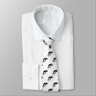踊りのココペリの南西デザイン ネクタイ