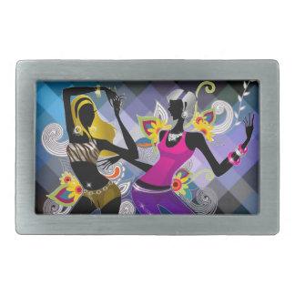 踊りのシルエットの女の子のベルトの留め金 長方形ベルトバックル