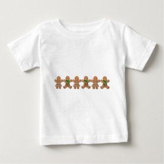 踊りのジンジャーブレッドのクッキー ベビーTシャツ