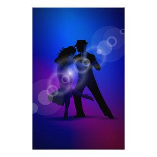 踊りのタンゴのデザインのカップル 便箋