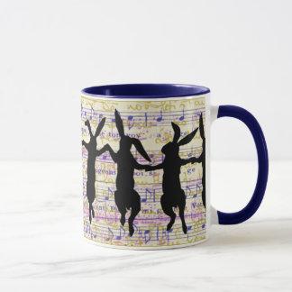 踊りのバニーのコーヒー・マグ マグカップ