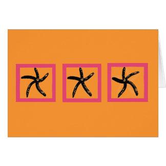 踊りのヒトデ ノートカード