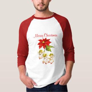 踊りのベビーの天使のクリスマスの人のワイシャツ Tシャツ