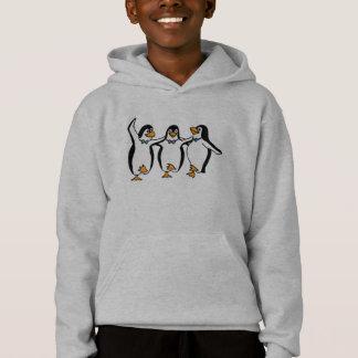 踊りのペンギンの子供のフード付