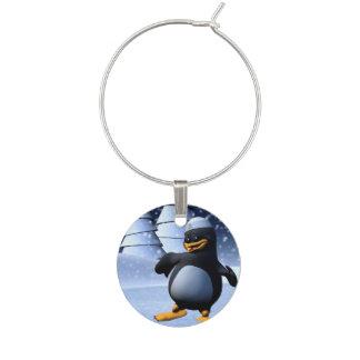 踊りのペンギン ワインチャーム
