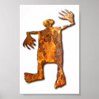 踊りの人の錆 ポスター