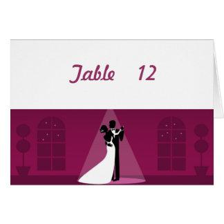 踊りの花嫁のカップルのテーブル数カード#2 カード